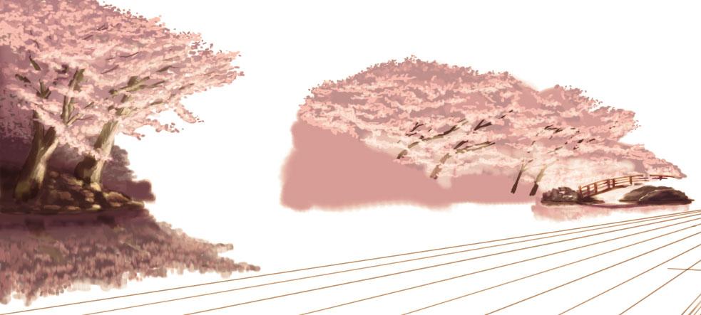 fig01 遠景の桜